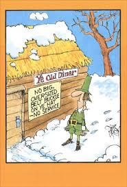 ye diner humorous thanksgiving card by nobleworks