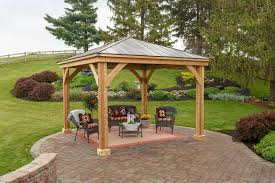 wooden pavilion kits for your backyard yardcraft pictures with