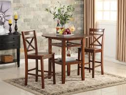 Dining Set 2 Chairs Acme Tartys Counter Height Dining Set 2 Chairs Nuke Breakfast
