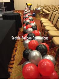 seattle balloon delivery black and silver arch seattle balloon decorations