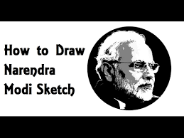 how to draw narendra modi pencil drawing sketch step by step youtube