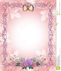 wedding invitation border roses royalty free stock photography