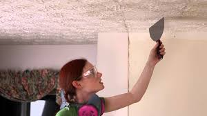 Easiest Way To Scrape Popcorn Ceiling by How To Remove Popcorn Ceiling And Retexture Youtube
