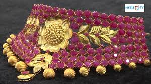 neck necklace gold images Ruby choker full neck necklace latest malabar gold and diamonds jpg