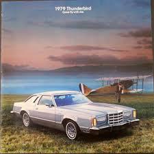1992 Ford Thunderbird Ford Thunderbird Original Sale Brochure Town Landau T Roof Sports