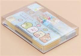 stationary set sumikkogurashi stationery gift set by san x memo pads