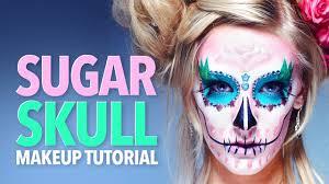 The 15 Best Sugar Skull Makeup Looks For Halloween Halloween by Santa Muerte Sugar Skull Makeup Tutorial Youtube