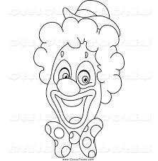 circus clown coloring page clipart panda free clipart in circus