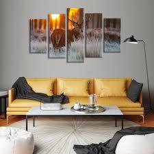 Wall Art Paintings For Living Room Deer Hunting Multi Panel Canvas Wall Art U2013 Elephantstock