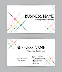 Business Cards Front And Back Stars Graphic Business Card Design Front And Back Stock Vector