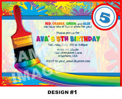 Unique Birthday Invitation Cards 10 Excellent Art Birthday Party Invitations Theruntime Com