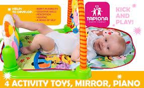 amazon com tapiona baby play mat gym kick and play activity