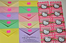 Hello Kitty Birthday Invitation Card Jingvitations Hello Kitty