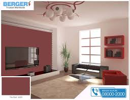 tile red paint in living room gives you relaxation and ease