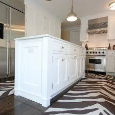 Zebra Runner Rug Zebra Kitchen Rug Contemporary Kitchen The Renovated Home