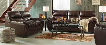 Durablend Leather Sofa 2 Pc Tassler Collection Mahogany Durablend Bonded Leather Sofa And