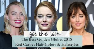 hairstyles golden globes get the look the best golden globes 2018 red carpet hair colors