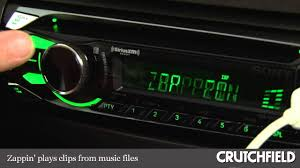 sony cdx gt575up cd receiver display and controls demo