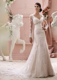 Long Sleeved Wedding Dresses Long Sleeve Lace Hand Beaded Wedding Dress 115240 Finley