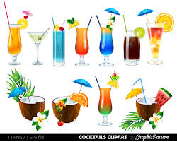 tropical cocktail silhouette tropical cocktail clipart 39