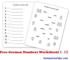 free german worksheets for kids homeschool den