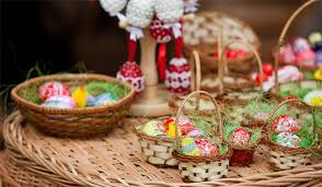 german gift basket all about easter eggs