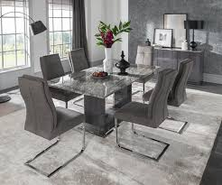 marble top dining room table vida living donatella small rectangular dining table only