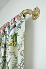 Easy Curtain Rods Diy Curtain Rods From Galvanized Pipe The Home Depot