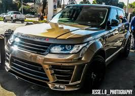 black and gold range rover lumma design range rover clr rs spotted in south africa