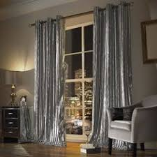 Slate Grey Curtains Minogue At Home Natala Slate Grey Silver Velvet Lined Ready