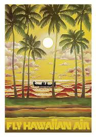 Hawaii travel art images Hawaii vintage airline travel poster digital art by retro graphics jpg
