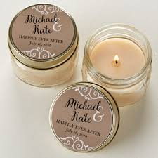 wedding favor candles rustic chic wedding personalized jar candle favors