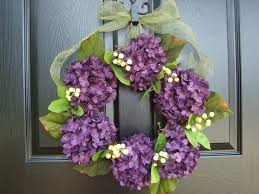 fall hydrangea wreath nice home decor with charm hydrangea