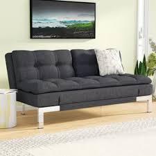 Leather Futon Sofa Modern Futons Allmodern