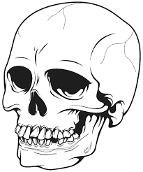 how to draw a skull scary how to draw an eye