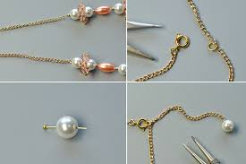 make chain necklace images Diy simple glass and pearl beads chain necklace where to buy jpg