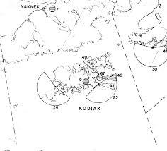 Kodiak Alaska Map by Kodiak Military History Radar