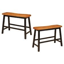 counter height dining table with bench pomeroy 24 counter height dining bench wood walnut set of 2