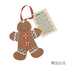 legend of the gingerbread foam ornament craft kit