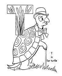 abc alfabeto hojas colorear abc tortuga animales