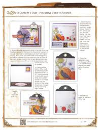 graphic 45 halloween cards u0026 tags project sheet scrapbook com