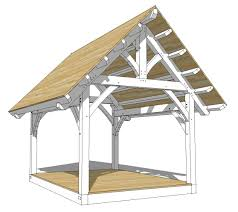 12x16 king post truss plan roof pitch pergolas and cabin