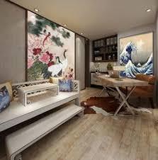 canapé asiatique tapisserie asiatique grand format panoramique les pivoines et