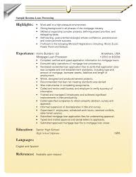 Online Resumes Examples Resume Example by Cover Letter Mortgage Resume Samples Mortgage Resume Objective
