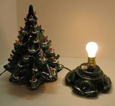 small vintage ceramic tree light up base faux plastic