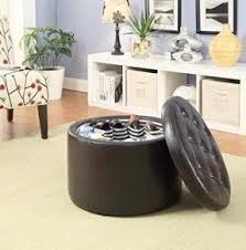 round ottomans furniture foter