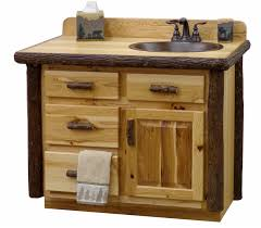 cabinets rustic natural hickory log vanity log bathroom cabinets