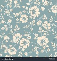 seamless vector floral wallpaper decorative vintage stock vector