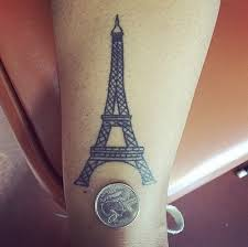 eiffel tower white ink tattoo pictures to pin on pinterest