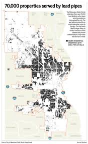 Zip Code Map Milwaukee by Milwaukee Faces Daunting Costs With Lead Water Pipes